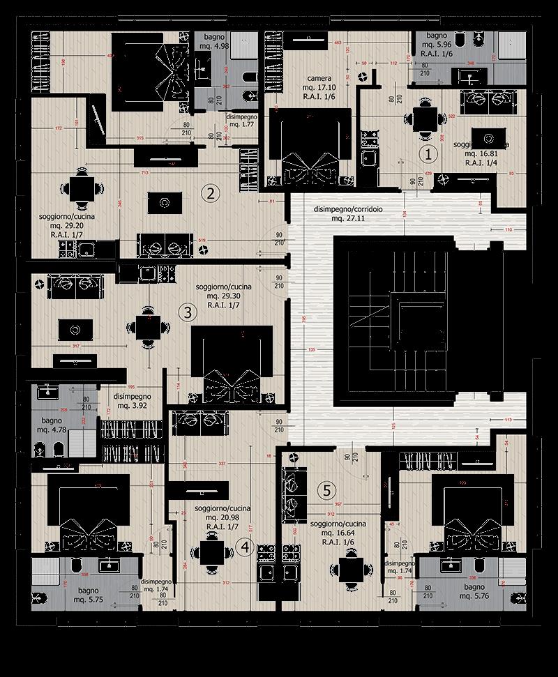 planimetria-Residence_al_Lido